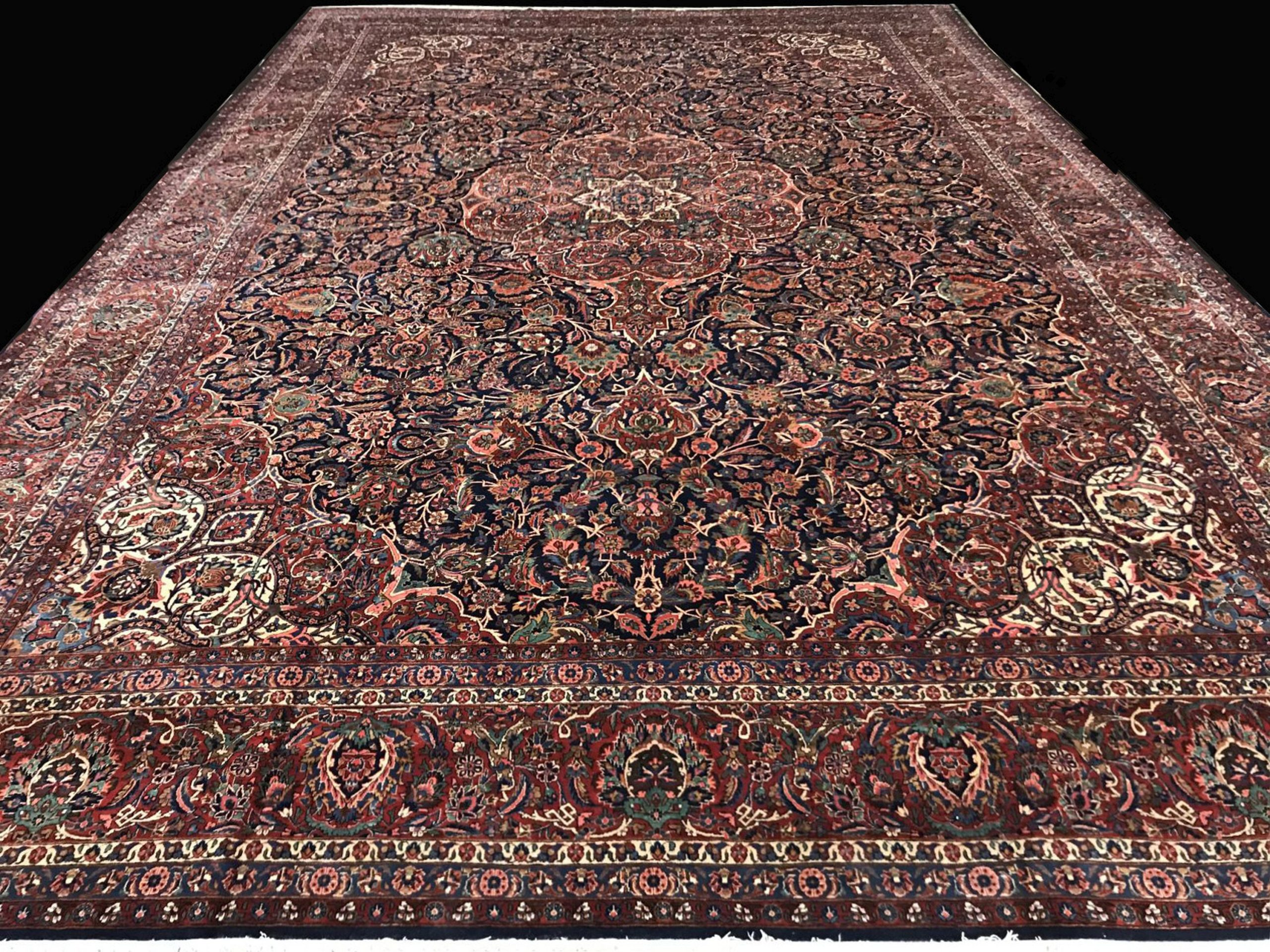 10250 PERSIAN ANTIQUE KASHAN 14x20